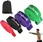 Linlook Resistance Band Loop - Latex Fitness Band Non Slip Pull Up Stretch Thick Theraband for Yoga Home Gym Workout Sports with Carrying Bag