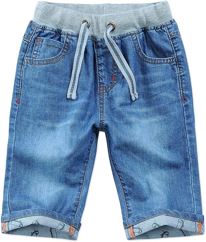 Child Boys Mid Waist Max 44% Japan Maker New OFF Elastic Crop Stretch Straight Capris Summer