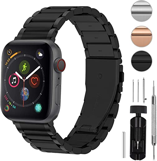 Fullmosa 3 Colors Apple Watch Strap 38mm Stainless Steel Compatible for iWatch Series 5/4/3/2/1, LUS Watch Strap for Apple Watch 38mm/42mm/40mm/44mm