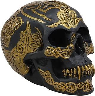 Ebros Celtic Tribal Knotwork Tattoo Black Ghost Vampire Skull Statue 7