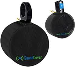 """$25 » Sponsored Ad - Black Heavy Duty Medium Marine Speaker Covers for Round 6.5"""" & Oval 6x9 Boat Wakeboard Tower Pod Speakers -..."""