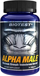 Alpha Male® Maximum Strength Testosterone Booster (74 Tablets) Rated Most-Potent Full Spectrum Tribulus