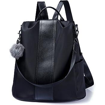 UTO Women Backpack Purse 3 Ways Oxford Waterproof Cloth Nylon Ladies Rucksack Shoulder Bag 18000380-1