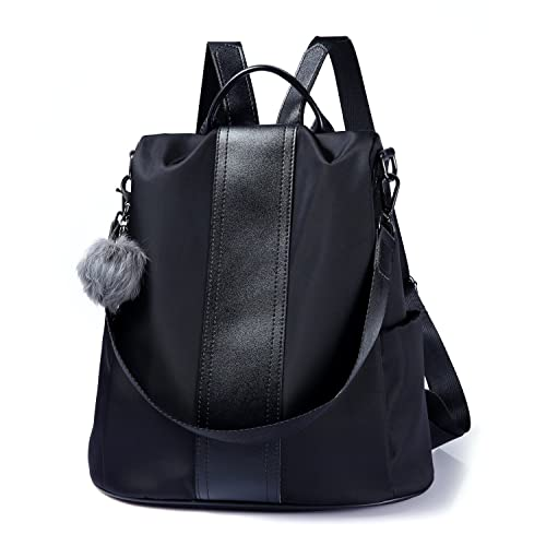 6bc847fd6 Amazon.com: Women Backpack Purse Waterproof Nylon Anti-theft Rucksack  Lightweight Shoulder Bag (Black): Shoes