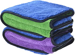 Sinland Microfiber Car Cleaning Cloths Plush Thick Car Waxing Polishing Towels Car Wash Cloths 720gsm 40CM X 60CM 2 Pack