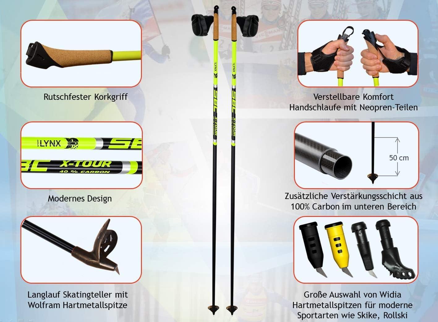 SPORTLYNX X-Tour Carbon Langlaufst/öcke Skating Stock Skist/öcke