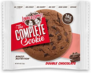 Lenny & Larry's The Complete Cookie, Double Chocolate Chip, 4 Ounce Cookies - 12 Count, Soft Baked, Vegan and Non GMO Protein Cookies