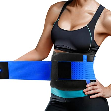Cintura Entrenador, Fajas Reductoras Adelgazantes, Respirable Ajustable Cintura Belt Bodyshaper Cinturón para Hourglass Moldeador,Cinturón de Cintura para Mujeres Cinturón Lumbar Abdomen Adjustable para Deporte Fitness