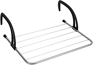Metaltex 406003031 heizkörper-/sèche-Linge pour Balcon, Camping, Argent/Noir