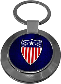 Premium Key Ring with U.S. Army Adjutant General Corps, branch insignia