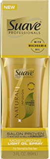 Suave Professionals Natural Infusion Moisturizing Light Oil Spray with Macadamia Oil & White Orchid, 3oz (Pack of 3)