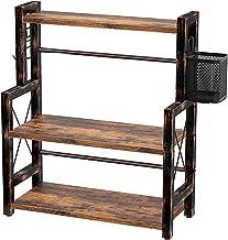 """Rolanstar Spice Rack Organizer with Wire Basket, 3-Tier 16.9"""" Kitchen Shelf Organizer Rack, Wooden Spice Organizer with 2 ..."""