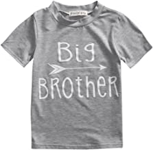 Toddler Boys Girls Sibling Shirts for Big Sister and Brother, Hipster Design