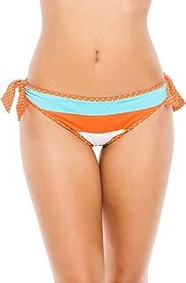 Women's Reversible Tie Side Hipster Bikini Bottom Ginger/Capri/Cave Multi XS