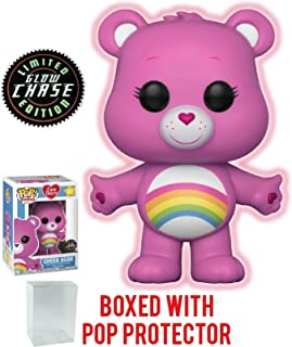 Funko Pop! Animation: Care Bears - Cheer Bear CHASE Variant Glow in the Dark Vinyl Figure (Bundled with Pop Box Protector Case)