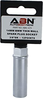 ABN Spark Plug Socket, Thin Wall 14mm 12-Point 3/8in Drive Plug Socket for BMW Car, Truck, Motorcycle