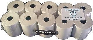 eposbits® marca rollos para que se ajuste a Casio pequeño dibujar TE-M80, TEM80te m80TEM-80, TM80–80TM-80caja registradora–10rollos
