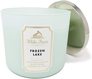 White Barn Bath and Body Works 3 Wick Scented Candle Frozen Lake 14.5 Ounce