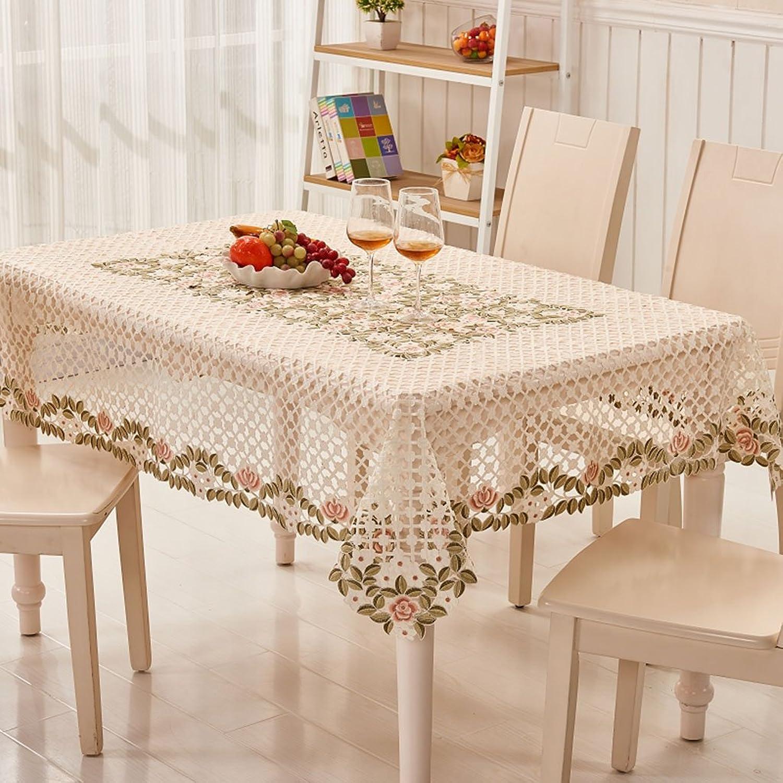 Qiao jin Tischdecke Couchtisch Tischdecke Tischdecken Stoff Spitze pastoralen europäischen Tischdecken (größe   145  215cm) B07B3NVWPF Realistisch   | Elegant Und Würdevoll