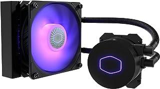 Cooler Master MasterLiquid ML120L V2 RGB Refrigeración a Liquido – Efectos Iluminación Brillantes, Bomba 3ª Generación, Radiador Superior y Ventilador SickleFlow 120mm, Negro