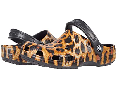 Crocs Kids Classic Out of This World Clog (Toddler/Little Kid/Big Kid) (Leopard) Girl