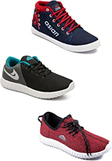 Asian Men's Casual Shoes Combo Pack of 3-0301-M587