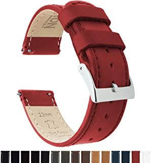 5672434c77a Barton Quick Release - Top Grain Leather Watch Band Strap - Choice of Width  - 16mm