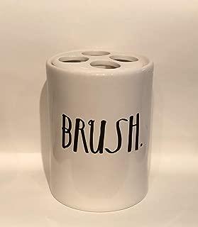 Rae Dunn Boutique stem Print Toothbrush Holder Brush