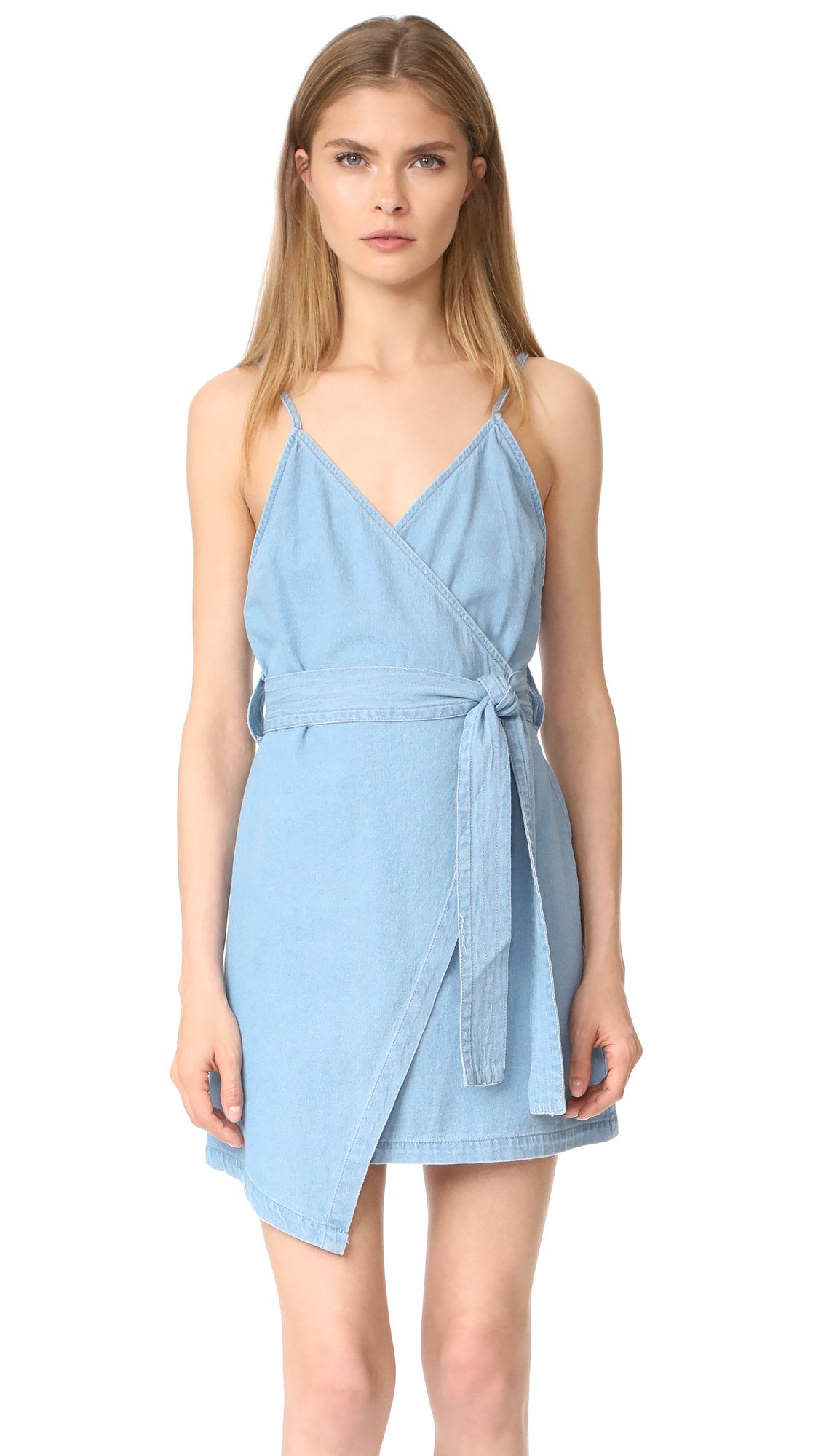 Available at Amazon: The Fifth Label Women's Blue Eyes Denim Wrap Belted Dress