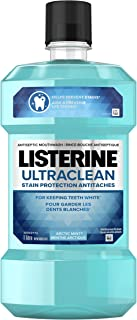 Listerine Mouthwash Ultraclean stain protection, for keeping teeth white, Arctic Mint, 1L