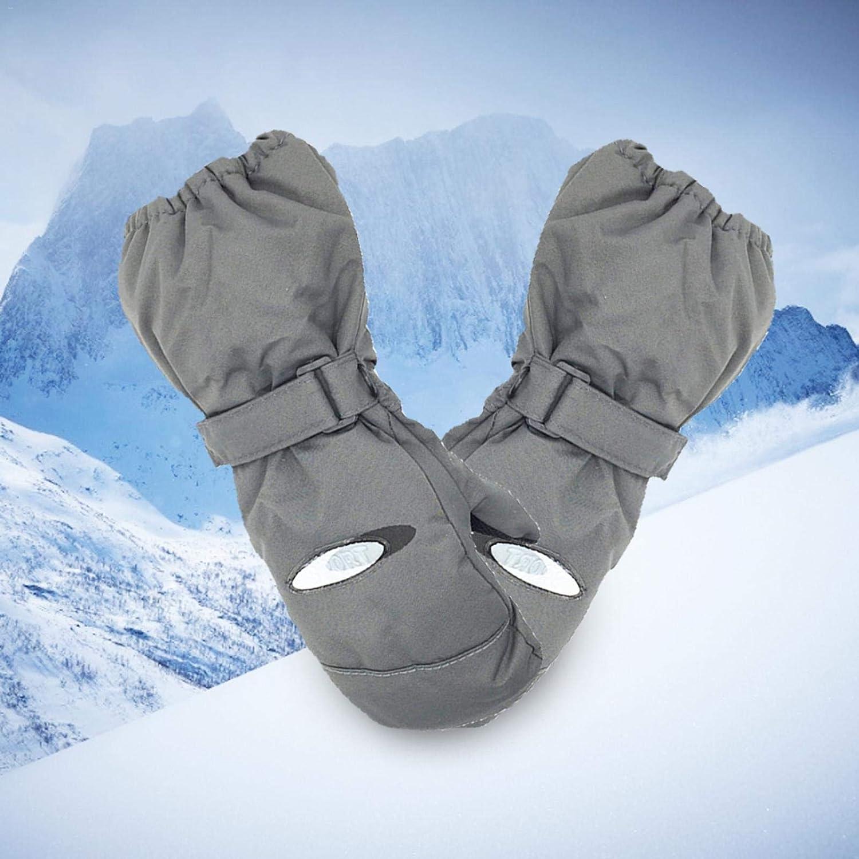 Wind Und wasserdichte Outdoorhandschuhe ershixiong Arbeitshandschuhe Kinder Skihandschuhe Winterkinderhandschuhe F/ür Warme