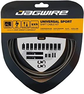 Jagwire Universal Sport Shift Cable Kit fits SRAM/Shimano and Campagnolo, Carbon Silver