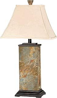 Kenroy Home 31202 Bennington Table Lamp, Natural Slate Finish