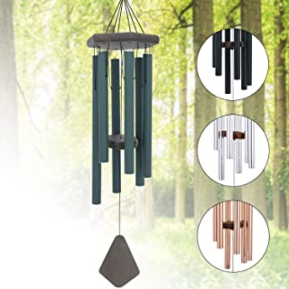 Memorial Wind Chimes Outdoor Deep Tone, 30 Inches Sympathy Wind Chime Amazing Grace Outdoor, Metal Wind-Chime Personalized with 6 Tuned Tubes, Elegant Chime for Garden, Patio, Balcony and Home, House
