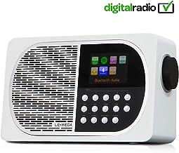 LEMEGA M2+ 7W Portable Internet Dab+ & FM Digital Radio with Wi-Fi, Bluetooth, USB, Aux & TFT Colour Display –Blanco Satinado