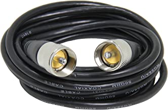 50 Ohm Antenna Cable, 15ft Low Loss RG 58 Coax Cable with PL-259 Male Connectors, Ancable PL259 Jumper for CB Ham Radio An...