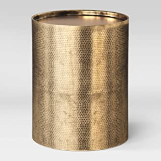 Manila Cylinder Drum Accent Table Brass