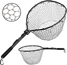 PLUSINNO Fly Fishing Net, Bass Trout Landing Net, Folding Fishing Nets Fresh Water, Safe Fish Catching or Releasing