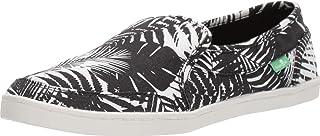 حذاء مسطح مسطح مسطح من Sanuk مطبوع على شكل نرد, (Black/White Palm Leaf), 40 EU
