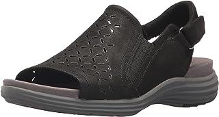 Aravon Women's Beaumont Peep Sling Sandal, black, 6 D US