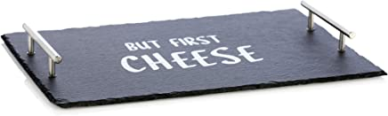 "Shiraleah Home Granville""But First Cheese"" Board Black"