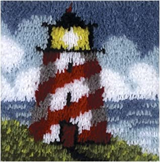 Wonderart Latch-Hook Kit, Lighthouse, 12