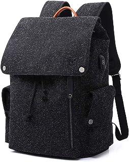 Quange Zaino Zaino Borsa for Computer Leisure Travel Bag Uomini Studenti delle scuole Superiori Shoulder Bag (Color : Blac...