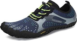 SAGUARO Mens Womens Barefoot Gym Walking Trail Beach Hiking Water Shoes