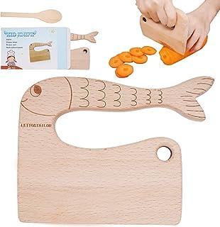 چاقوی چوبی مخصوص کودکان برای پخت و پز ، چاقوهای ایمن کودکان ، وسایل آشپزخانه مونته سوری برای کودکان نوپا ، هلی کوپتر ، میوه و سبزیجات (برای 2-10 سال)