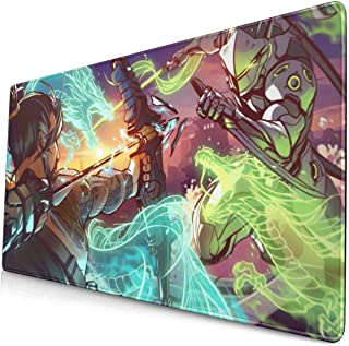 Overwatch Genji and Shimada Hanzo Rectangle Non-Slip Rubber Mousepad Gaming Mouse Pad 15.7 X 29.5 in
