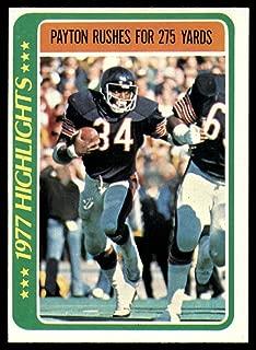 1978 Topps #3 Walter Payton HL NM