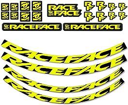 RaceFace Large Offset Rim Decal Kit, Neon Yellow (389C)