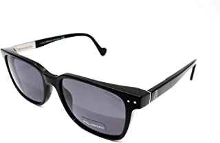 Moncler Unisex Adults' ML0011 01N 54 Sunglasses, Black (Nero Lucido/Verde)