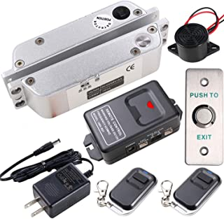 UHPPOTE Door Access Control Kit with Electric Drop Bolt Lock Remote Control for Narrow Door
